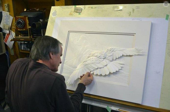 Бумажные природные скульптуры 33