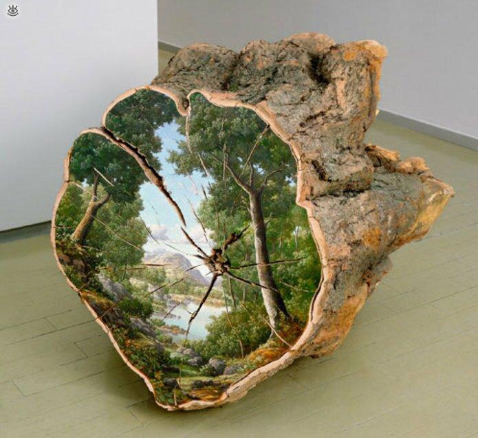 Картины на спиле дерева 0