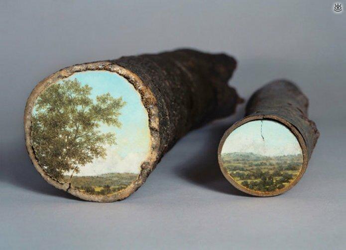 Картины на спиле дерева 1
