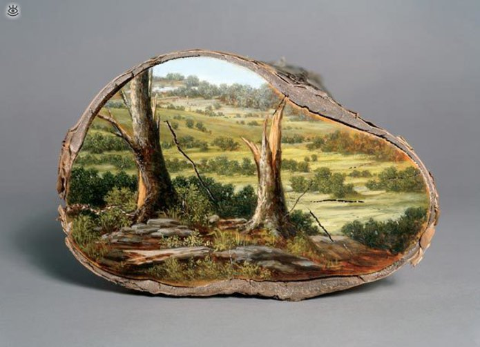Картины на спиле дерева 2