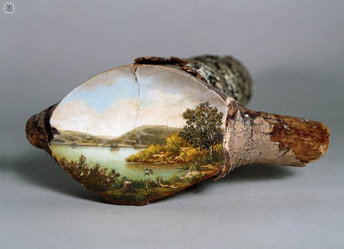 Картины на спиле дерева 4