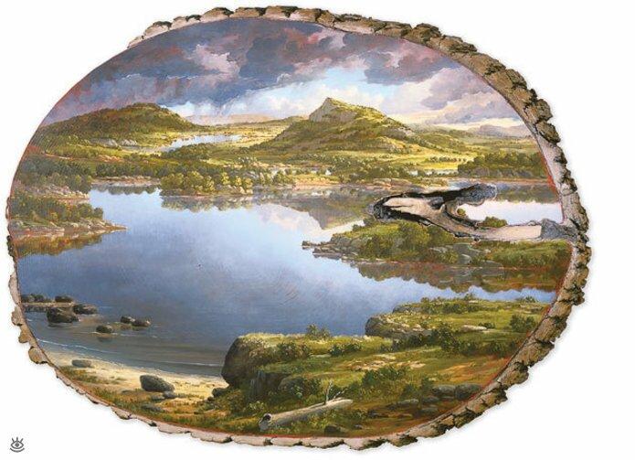 Картины на спиле дерева 6