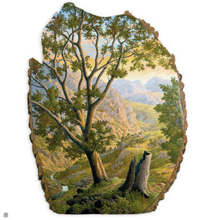 Картины на спиле дерева 12