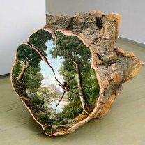 Картины на спиле дерева