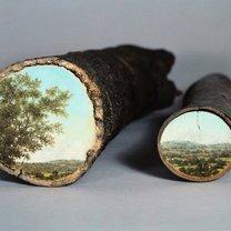 Картины на спиле дерева фото приколы