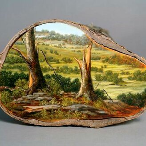 Фото приколы Картины на спиле дерева (16 фото)