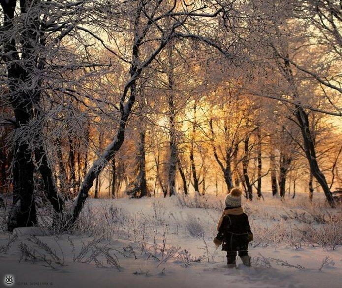 Детство в деревне зимой 0