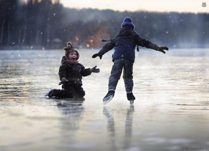Детство в деревне зимой 1