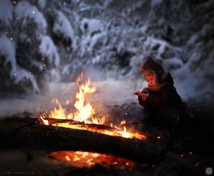 Детство в деревне зимой 2