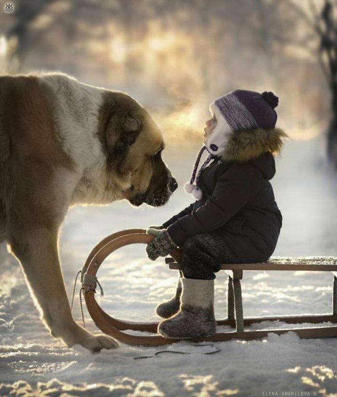 Детство в деревне зимой 4