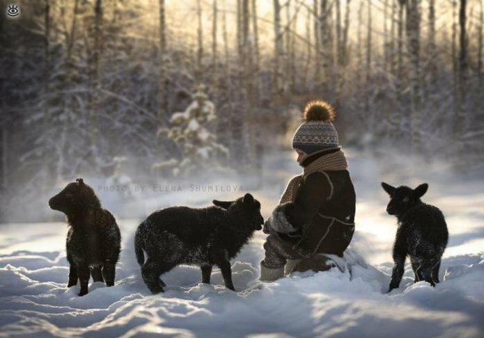 Детство в деревне зимой 8