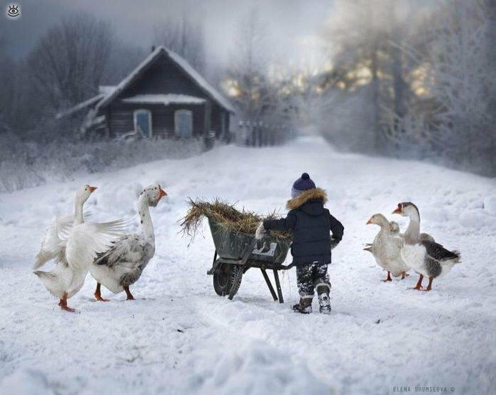 Детство в деревне зимой 10