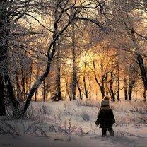 Детство в деревне зимой