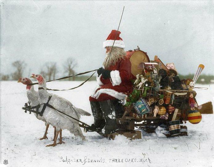 Винтажные фото с рождественским духом 1