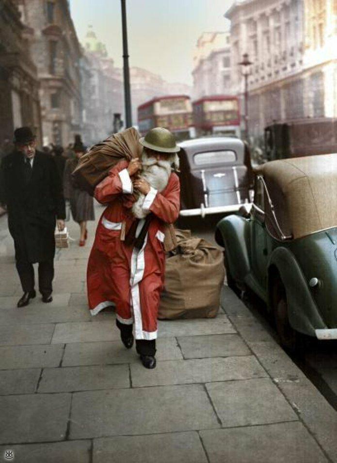 Винтажные фото с рождественским духом 11