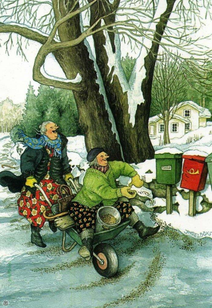 Как две бабуськи Рождество справляли 7