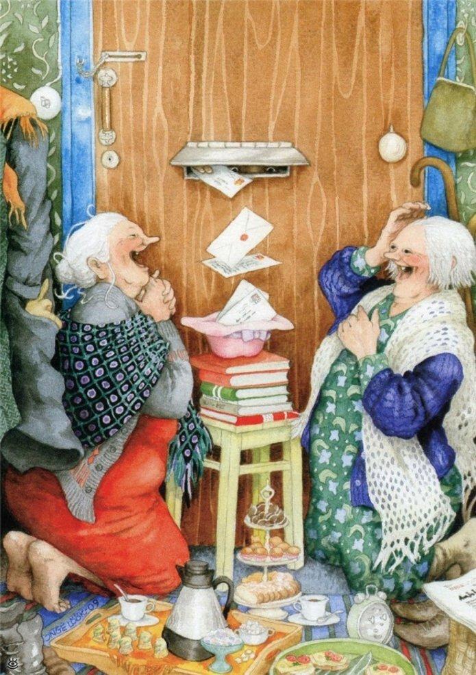 Как две бабуськи Рождество справляли 8