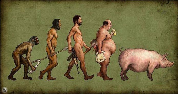 Смешная эволюция 0