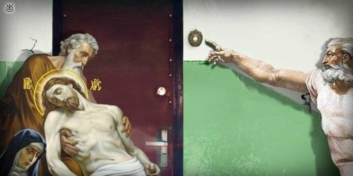 Чудные надписи к католическим картинам 40