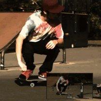Фото приколы Трюки на скейте в гифках (13 фото)