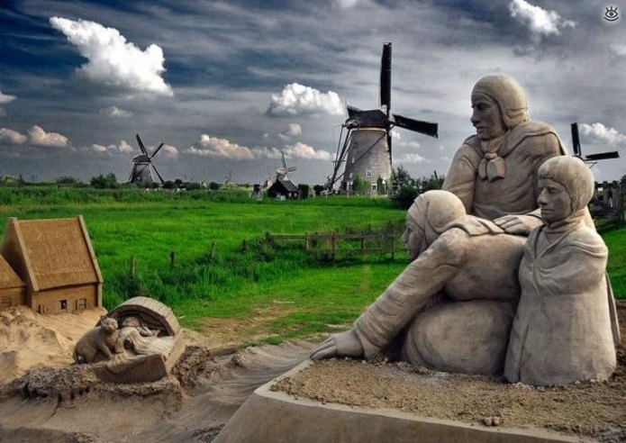 Виртуозные скульптуры из песка 14