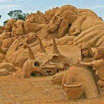 Фото приколы Виртуозные скульптуры из песка (20 фото)