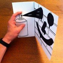 Фото приколы Оживающие рисунки на бумаге (30 фото)