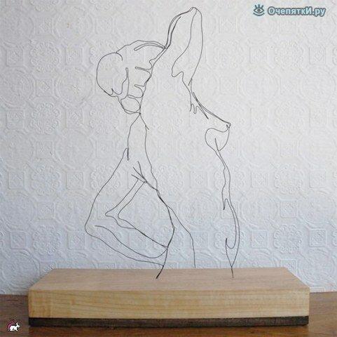 Проволочные скульптуры 8