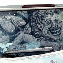 Рисунки на грязном стекле