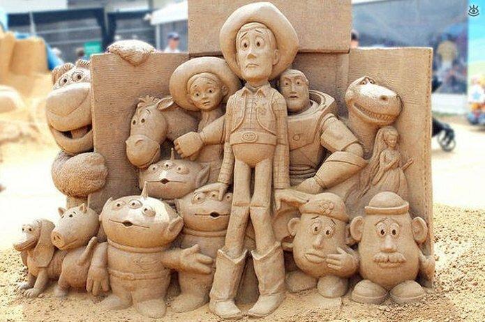 Грандиозные скульптуры из песка 6