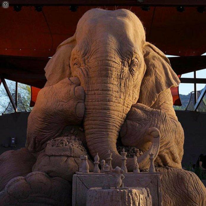 Грандиозные скульптуры из песка 15