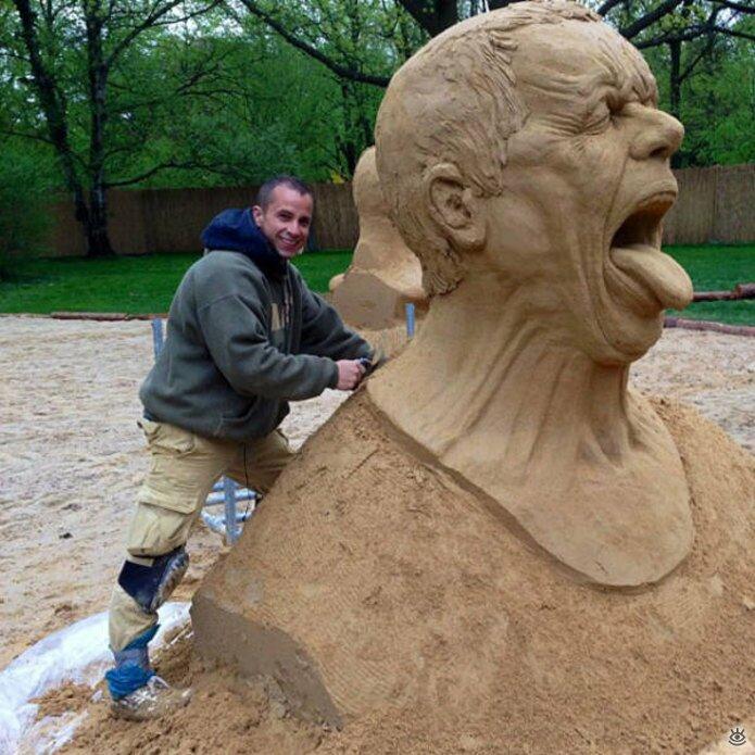 Грандиозные скульптуры из песка 17