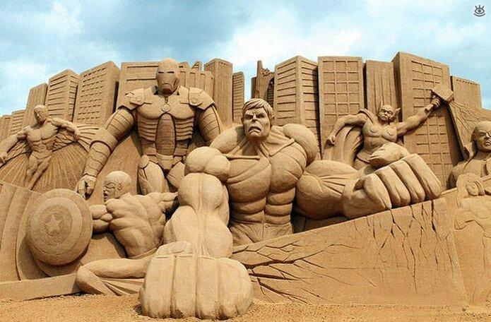 Грандиозные скульптуры из песка 21
