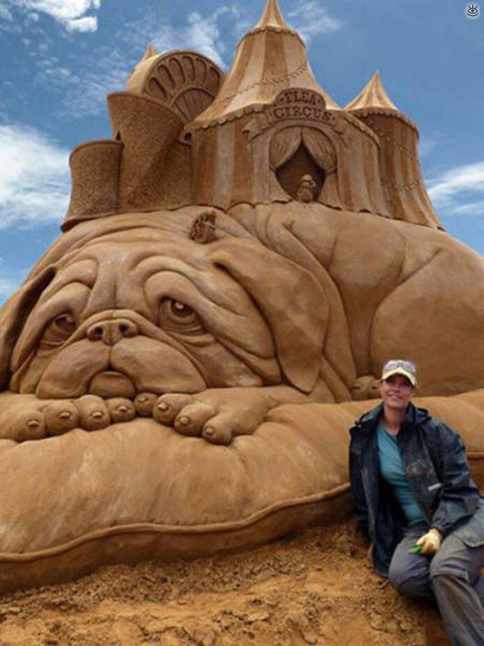 Грандиозные скульптуры из песка 23