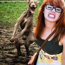 Девушки и животные смешных фото приколов