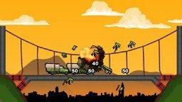 Взорви мост мини игра