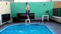 Тяжёлый прыжок смотреть видео прикол - 0:38