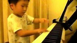Маленький увлечённый пианист смотреть видео - 3:54