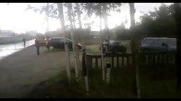 Смотреть Автомобиль хотел сбежать от хозяйки