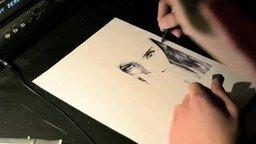Смотреть Красивый рисунок фломастером