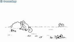 Кот Саймона и собака