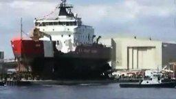 Как спускают корабли на воду смотреть видео - 1:28