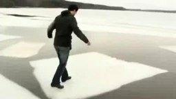 Хождение по льдинам смотреть видео прикол - 0:47