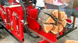 Смотреть Самодельная машина для колки дров