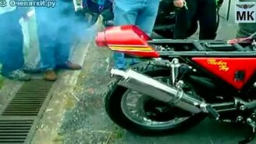 48-циллиндровый мотоцикл KAWASAKI смотреть видео прикол - 0:33