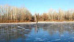 Смотреть Кайтсёрфинг зимой?