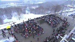 Музыкальный флеш-моб на Воробьёвых горах смотреть видео - 5:40