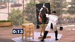 Что он рисует? смотреть видео - 1:50