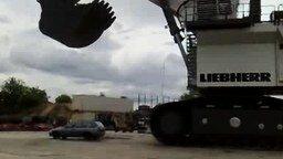 Смыли машину с лица земли смотреть видео прикол - 0:50