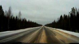 Везение на зимней дороге смотреть видео прикол - 0:21